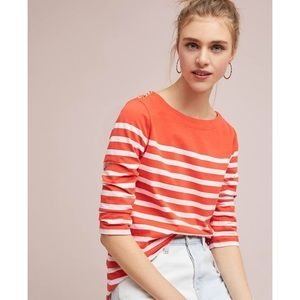 Anthropologie Tops - Anthropologie Maeve Bonnie Boat-Neck Top